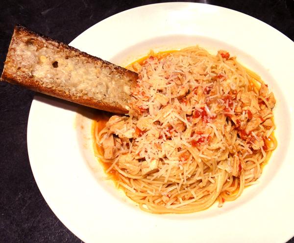 Leftover Chicken and Tomato Pasta
