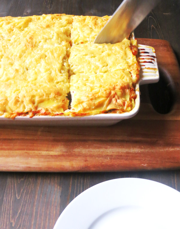 Seafood Vegetable Lasagna