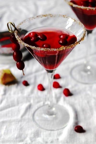 Cranberry Ginger Martini