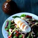 Spinach Salad with Maple Balsamic Vinaigrette