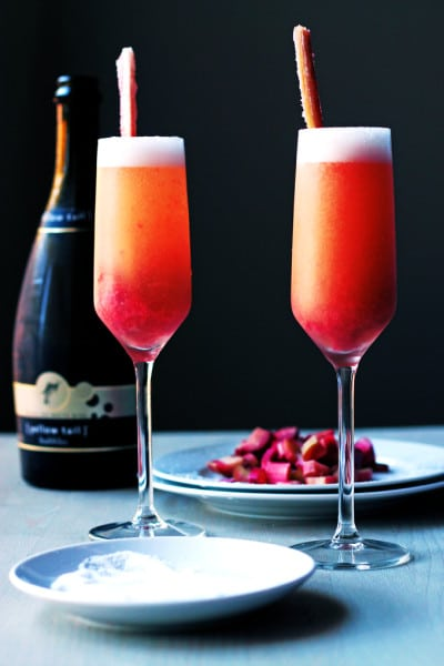 Rhubarb Bellini