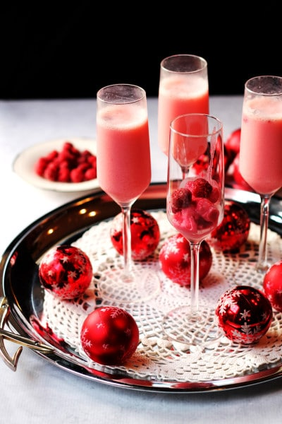 New Years Toast – Raspberry Cream Mimosa