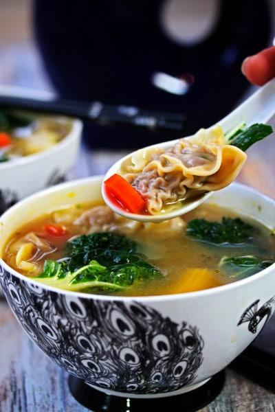 Wor Wonton Soup with Homemade Wontons