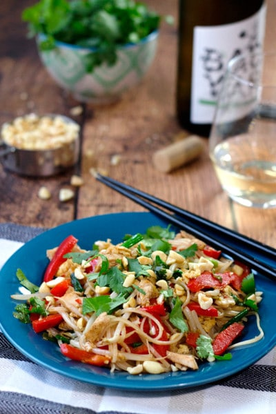 Pad Thai with Chicken and a Tamarind Sauce
