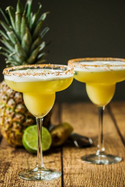 Pineapple & Ginger Margarita Shaken with Egg Whites