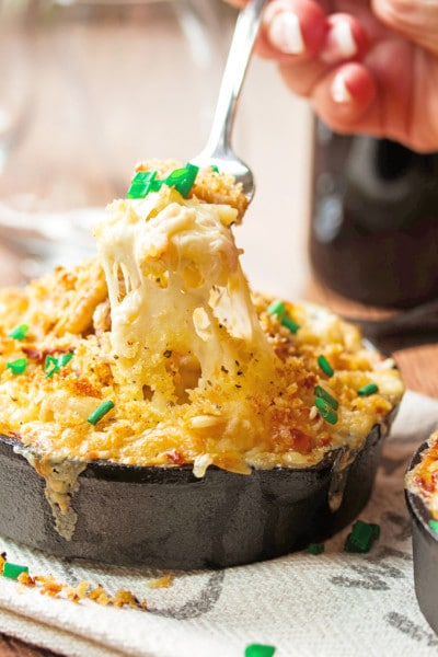 Dungeness Crab Mac & Cheese with Jarlsberg Cheese