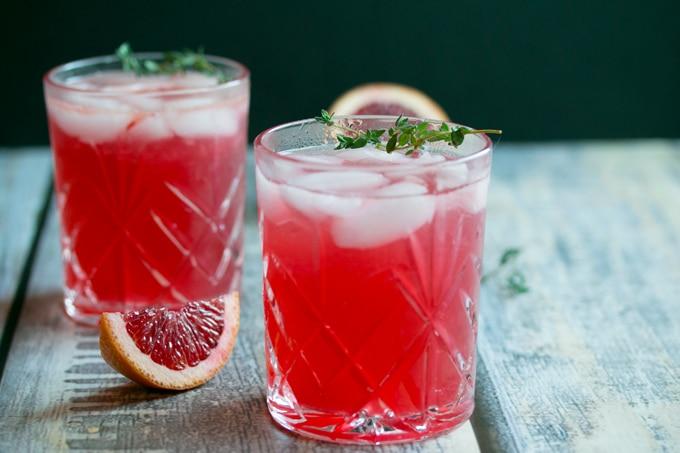 Hard Blood Orange Lemonade Infused with Thyme