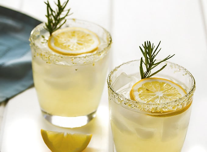 Meyer Lemon Margarita with Rosemary Infused Simple Syrup