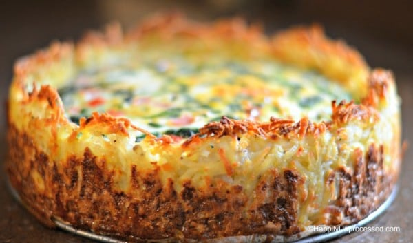 Spinach and Gruyere Cheese Hashbrown Quiche