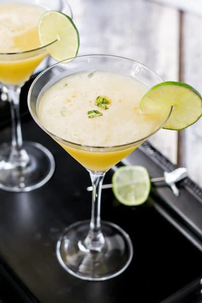 Passion Fruit Martini with Honey & Basil