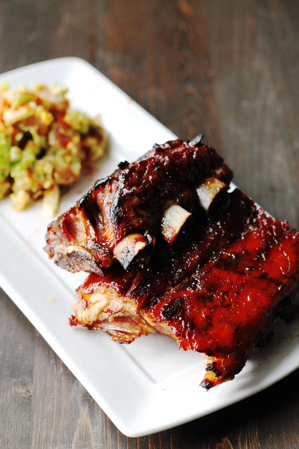Fall Off the Bone Ribs with Homemade BBQ Sauce