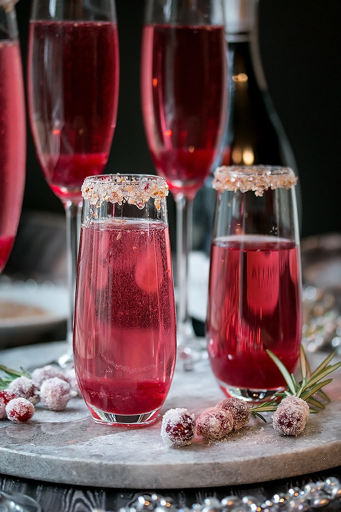 Cranberry Ginger Sparkling Holiday Cocktail