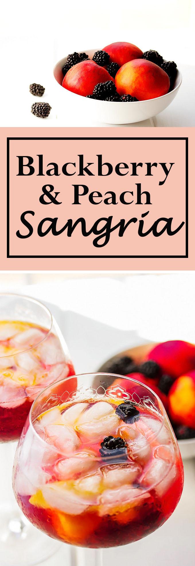 Blackberry and Peach Sangria