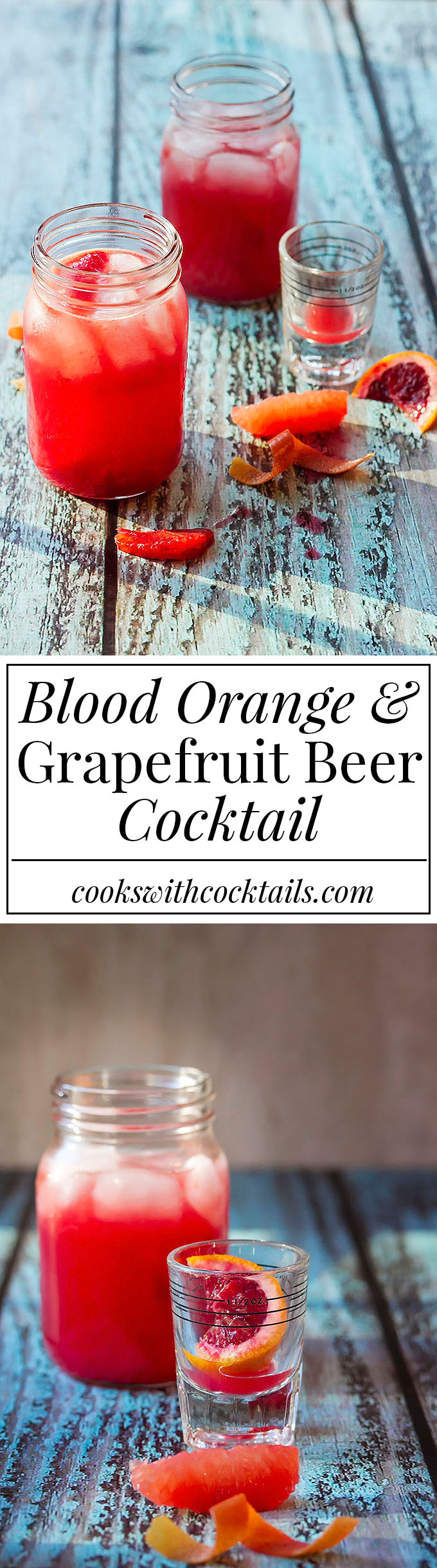 Blood Orange & Grapefruit Beer Cocktail