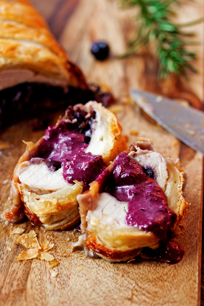 Blueberry and Brie Stuffed Turkey Wellington
