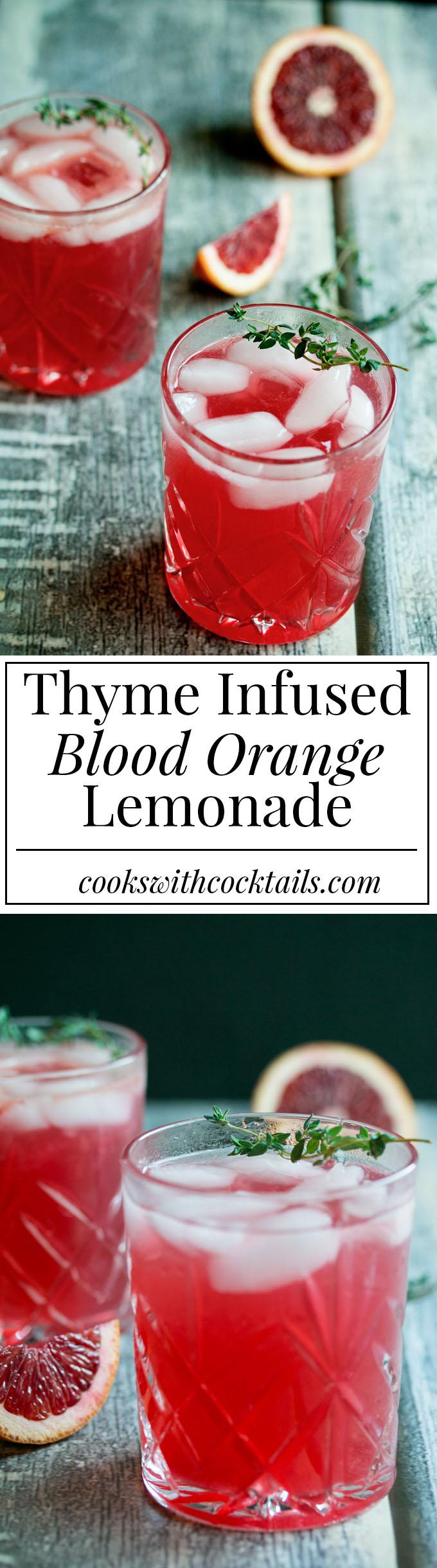 Hard Thyme Infused Blood Orange Lemonade