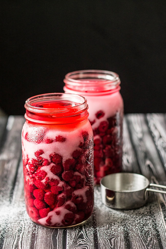 Homemade Raspberry Liqueur Elixir   Cooks with Cocktails
