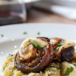 Artichoke & Lemon Rissoto with Flank Steak Pinwheels