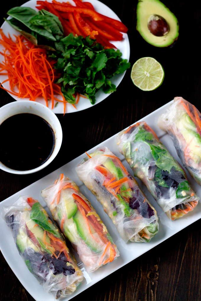 Chicken and Vegetable Salad Rolls