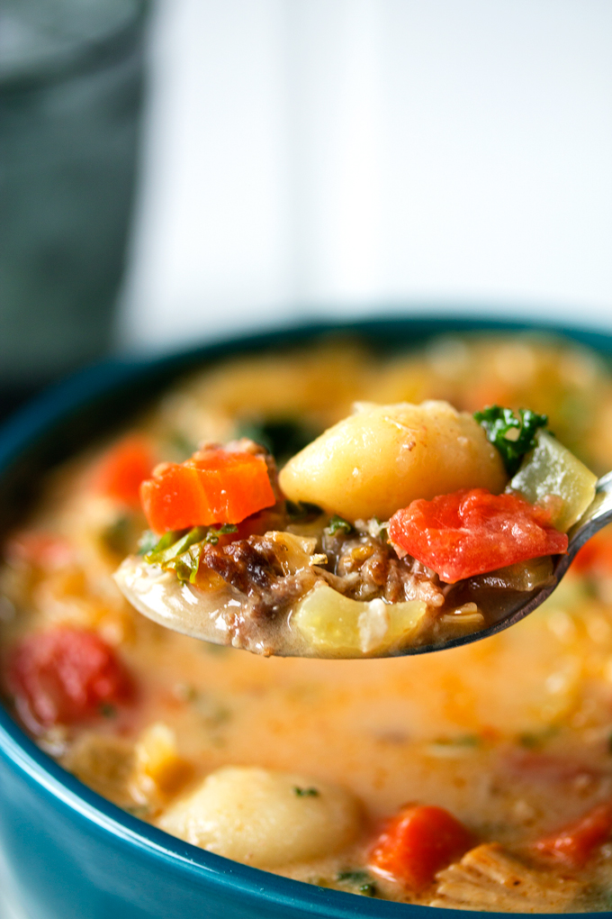 Sausage, Turkey and Gnocchi Soup