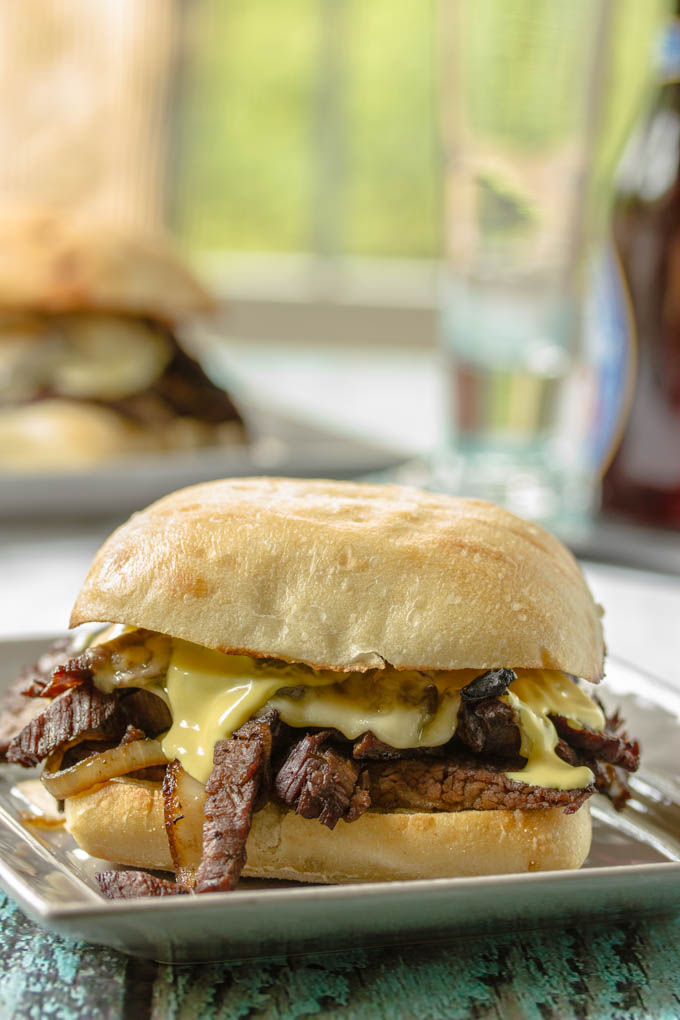 Steak Sandwich with Onions, Mushrooms & Havarti