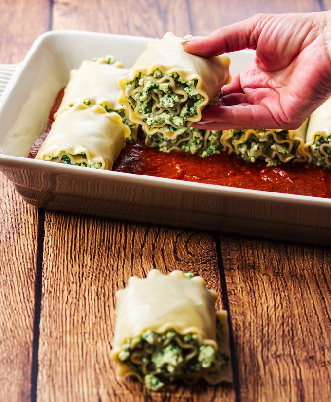 Pasta Roll-ups With Turkey And Spinach Recipe — Dishmaps