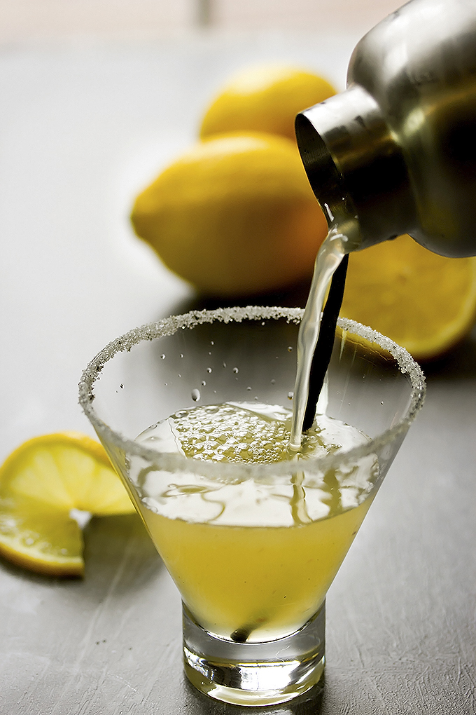 Vanilla & Meyer Lemon Martini