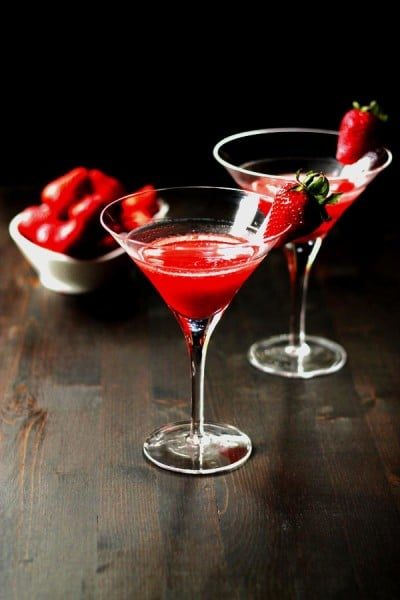 'Dirty Vegas' Strawberry Martini