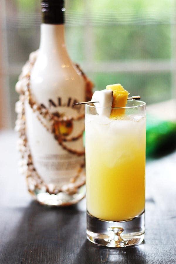 Coconut Pineapple Rum Drink