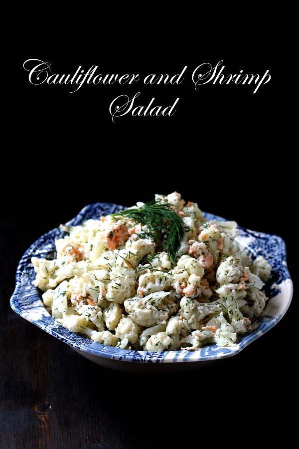 Cauliflower and Shrimp Salad