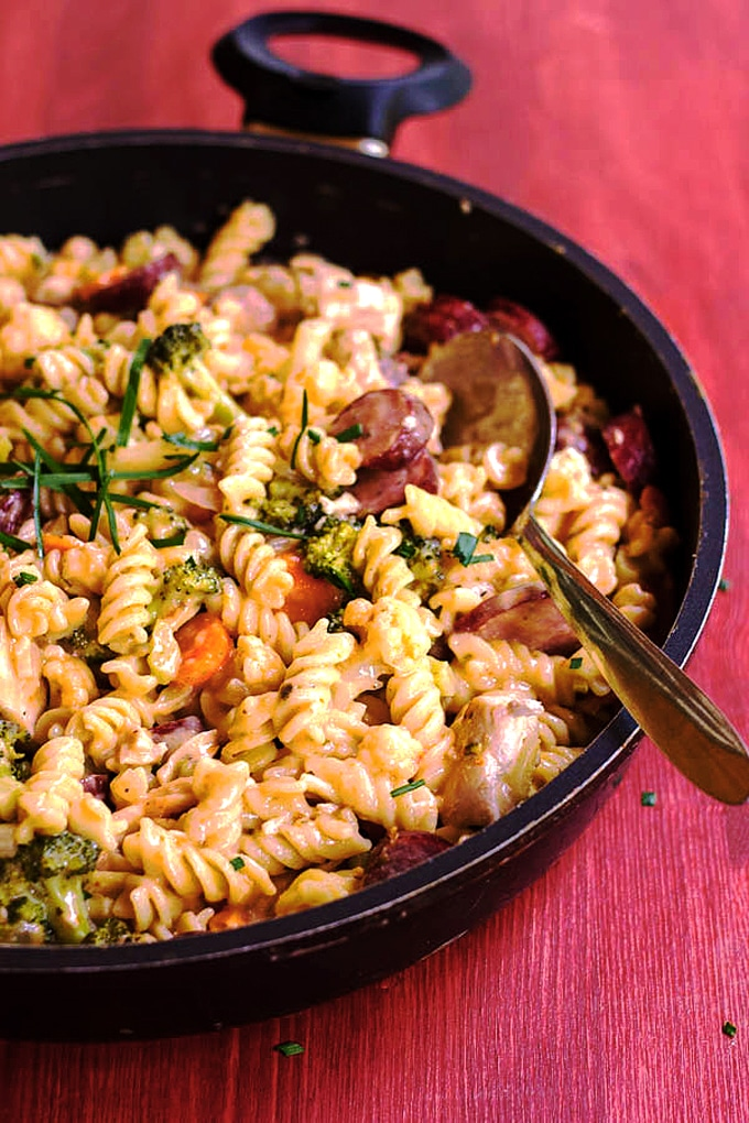 Chicken Pasta with Sundried Tomato Sauce