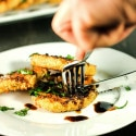 Fried Green Tomatoes with Basil and Balsamic