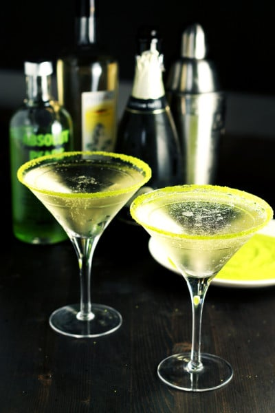 Pear and Elderflower Bubbly Martini