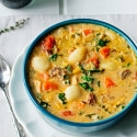 Creamy Sausage, Turkey and Gnocchi Soup