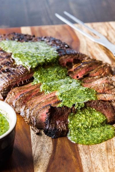 Marinated Flank Steak with Chimichuri Sauce