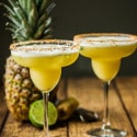 Pineapple & Ginger Margarita Shaken with Egg Whites