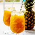 Spiked Citrus Iced Tea Slush with Pineapple & Rum