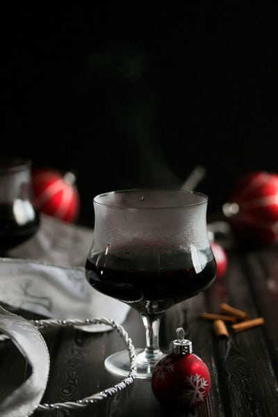Mulled Wine with Chocolate Raspberry Liqueur