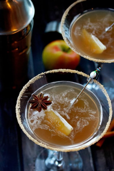 Apple Cider Martini with Caramel & Homemade Apple Cider