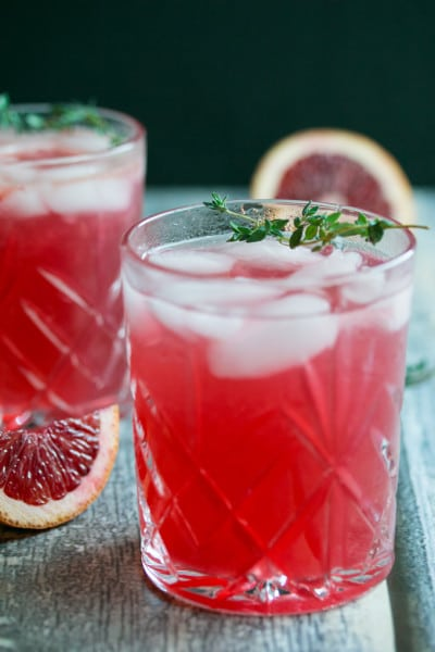 Hard Blood Orange Lemonade Infused with Thyme