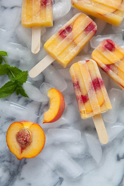 Peach Sangria Popsicles