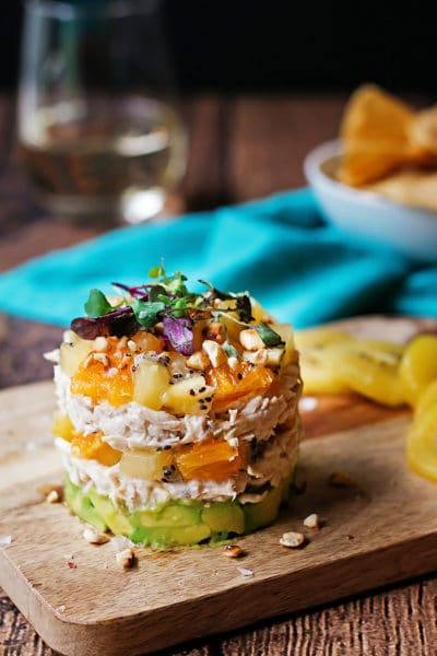 Kiwi and Avocado Chicken Salad