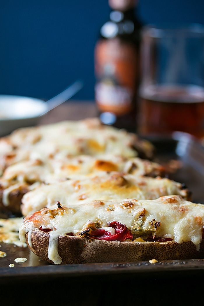 Reuben Stuffed Potato Skins - Cooks With Cocktails