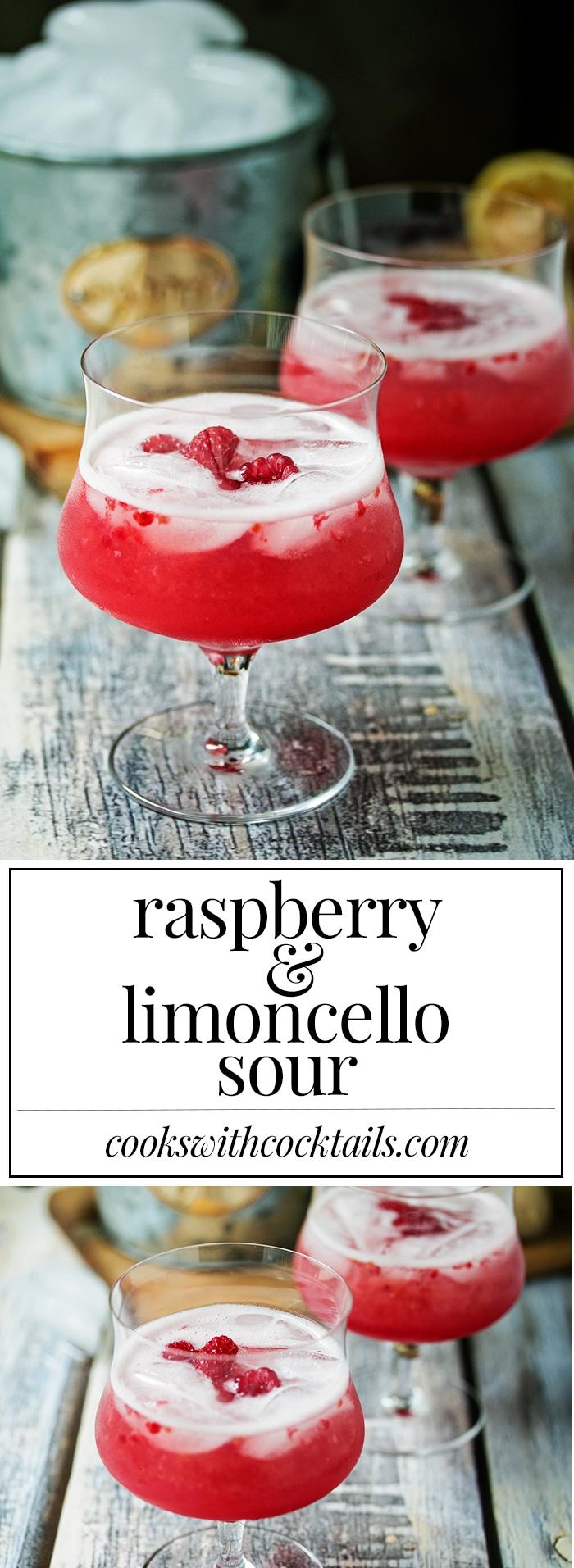 Raspberry & Limoncello Vodka Sour