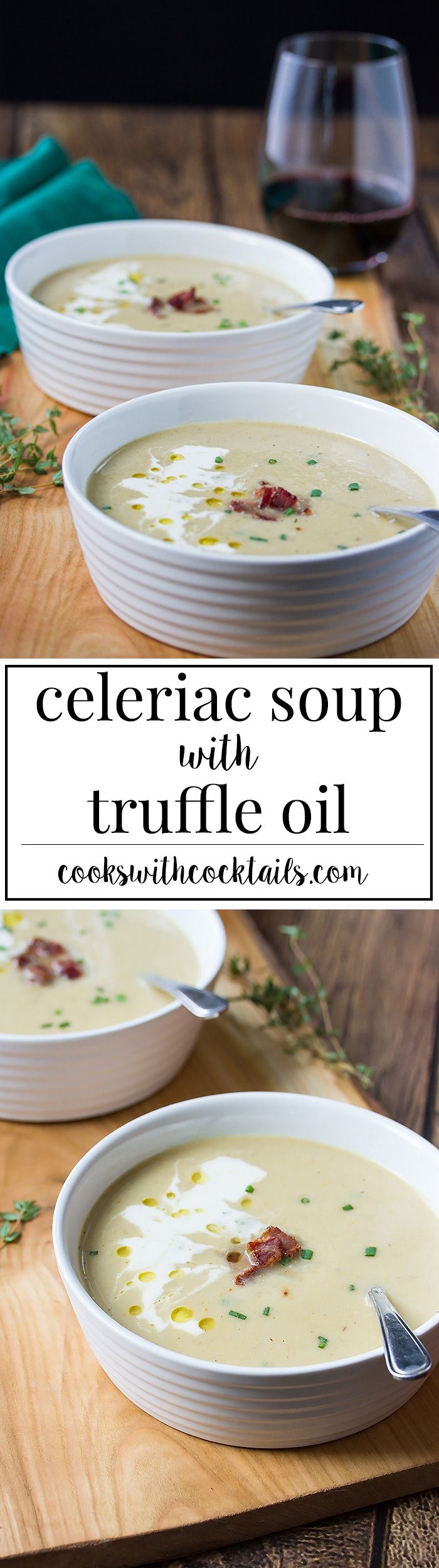 Easy and Healthy Celeriac Soup with Gruyere & Truffle Oil - Cooks With ...