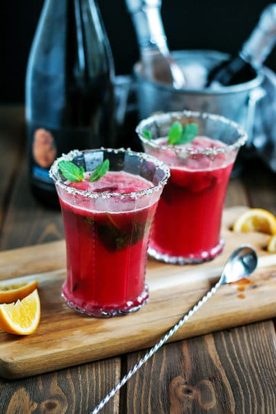 An Insanely Delicious Blood Orange Sparkling Margarita