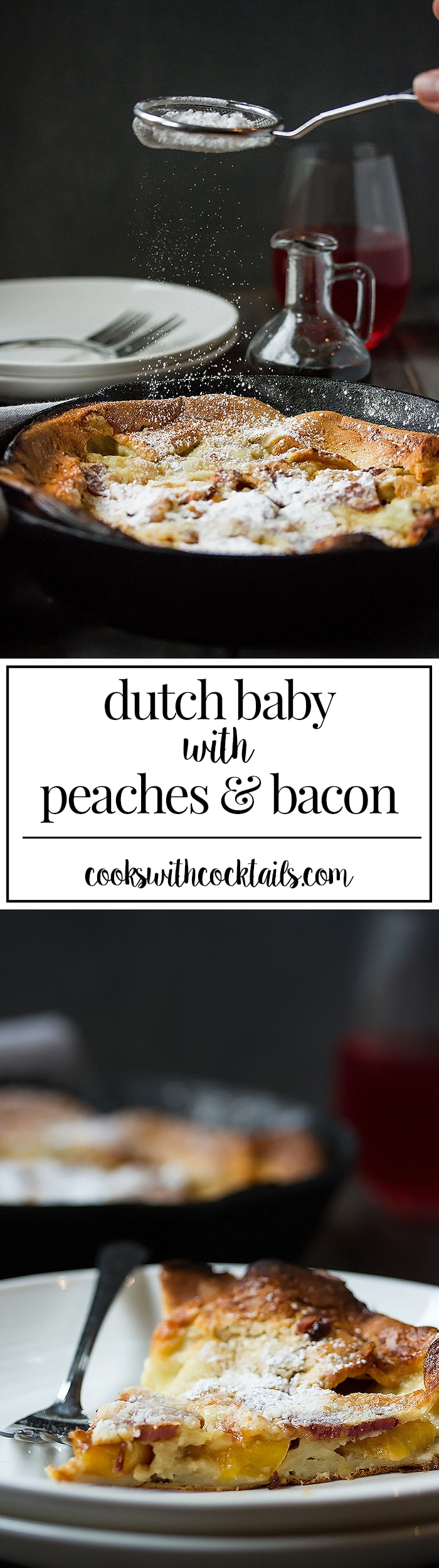 Fluffy Bacon & Peach Dutch Baby Recipe - the Ultimate Brunch Pancakes (2)