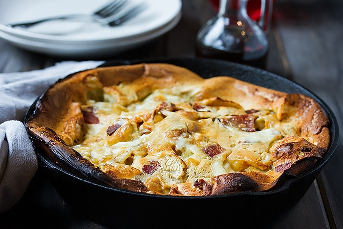 Fluffy Bacon & Peach Dutch Baby Recipe - the Ultimate Brunch Pancakes (3)