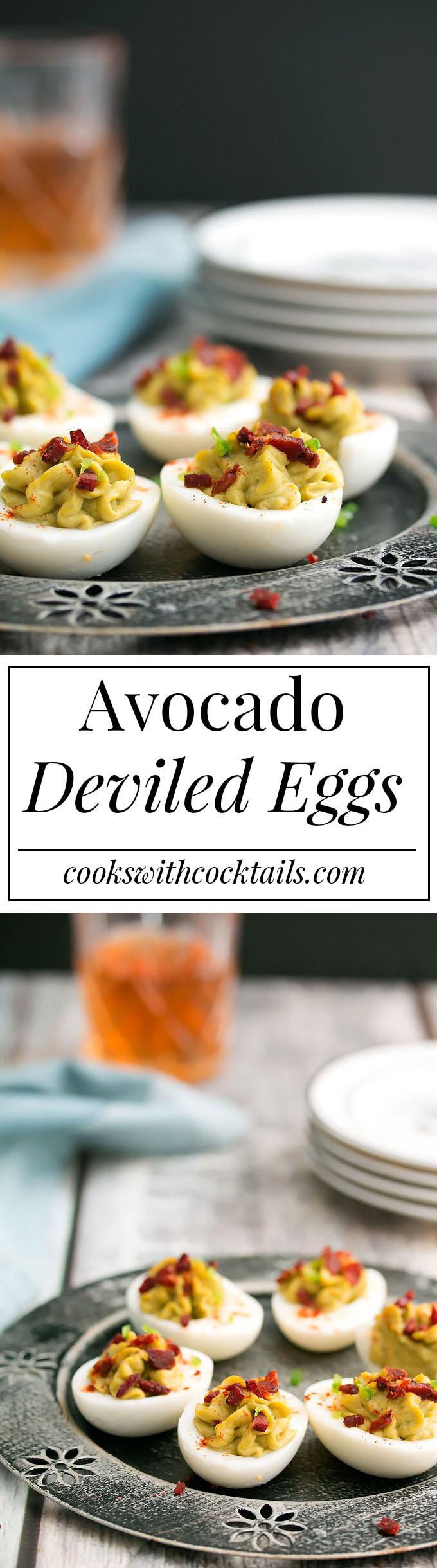 Avocado, Jalapeno & Bacon Deviled Eggs & the Hard Boiled Egg Trick