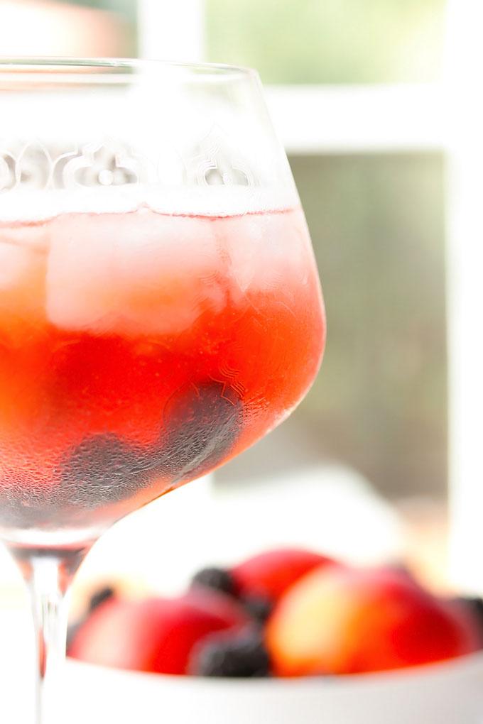 Blackberry & Peach Sangria